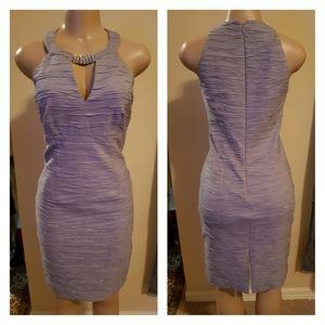 Eliza J Silver Halter Cocktail/Party Dress